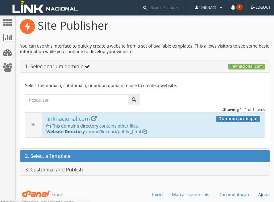 Site Publish Etapas