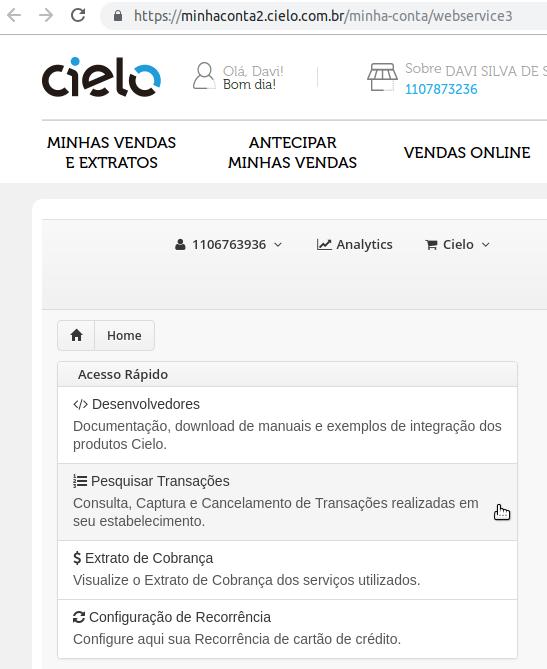 Como capturar uma transação da CIELO API 3.0