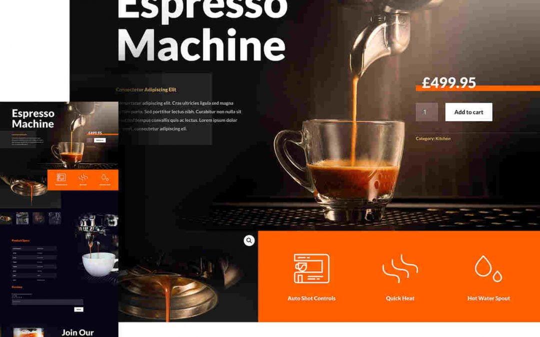 Editor visual de página WooCommerce com Divi