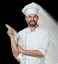 banner cozinheiro restaurante