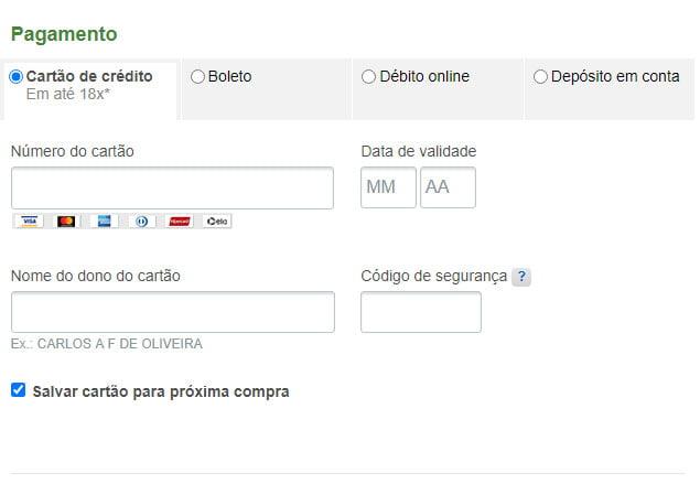 Botão doação PagSeguro - pagamento