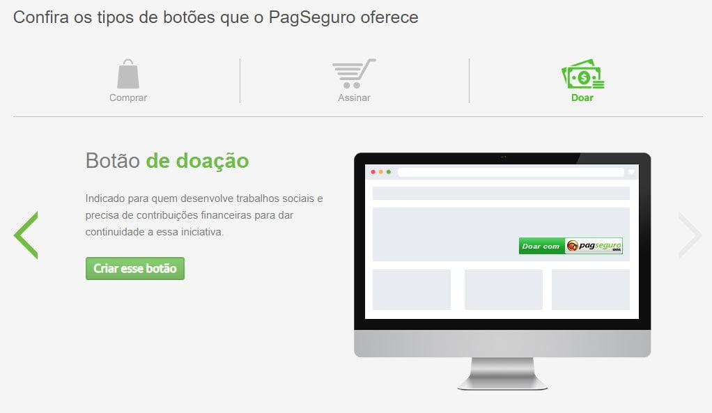 Botão doação PagSeguro