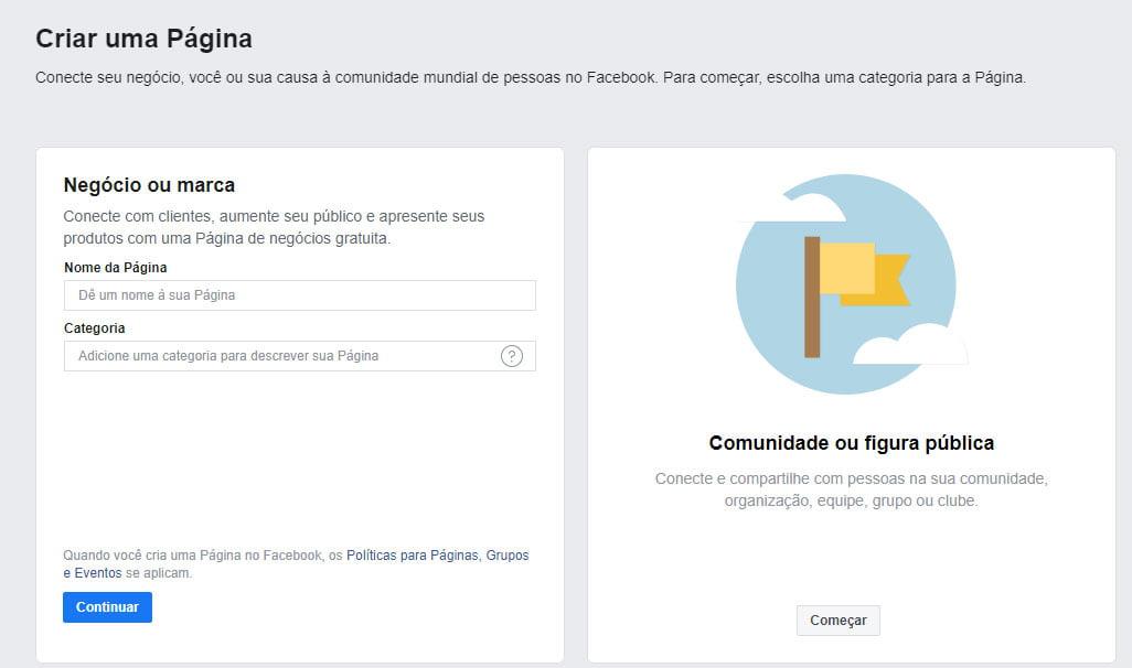 como colocar nome na página do Facebook