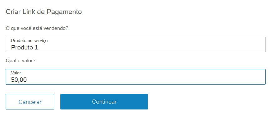 Link de pagamento PagSeguro