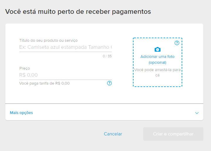 Link de pagamento Mercado Pago