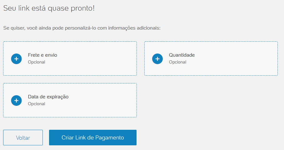 Link de pagamento PagSeguro Finalizar