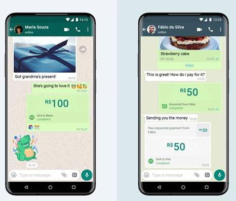 Link de pagamento WhatsApp Pay