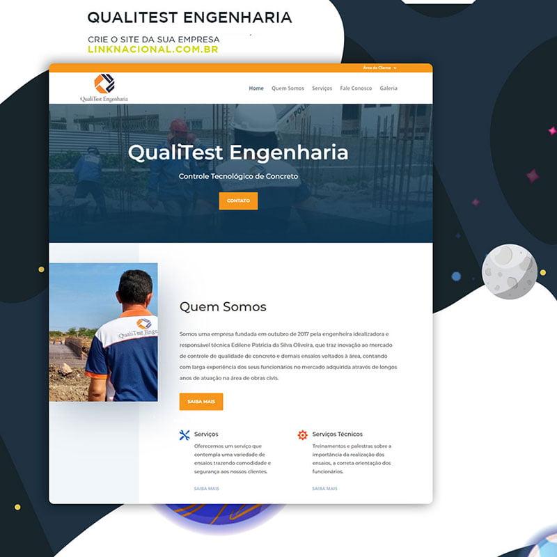 Site institucional Qualitest Engenharia
