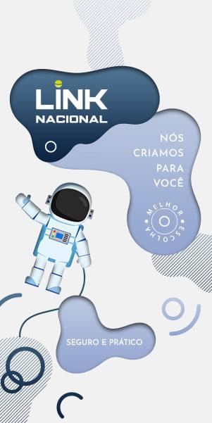 Ilustração do Astronauta anunciando o plano site pronto