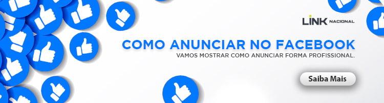 Banner de como anunciar no Facebook
