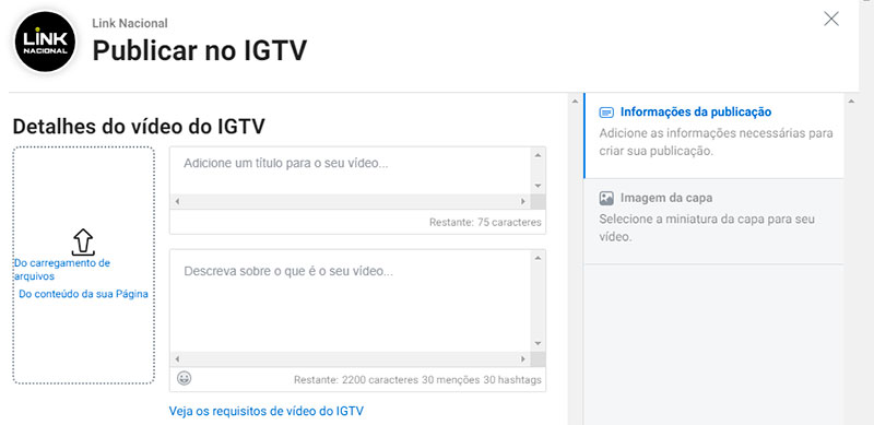 publicar vídeo no IGTV