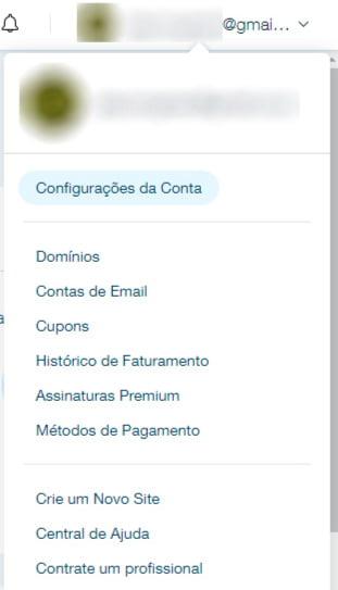 Como acessar a configuração de e-mail profissional no Wix