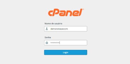 Login no cPanel