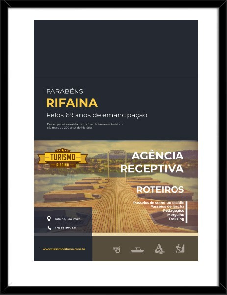 Peça publicitária Turismo Rifaina