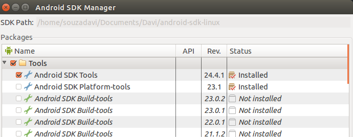 SDK tools Android