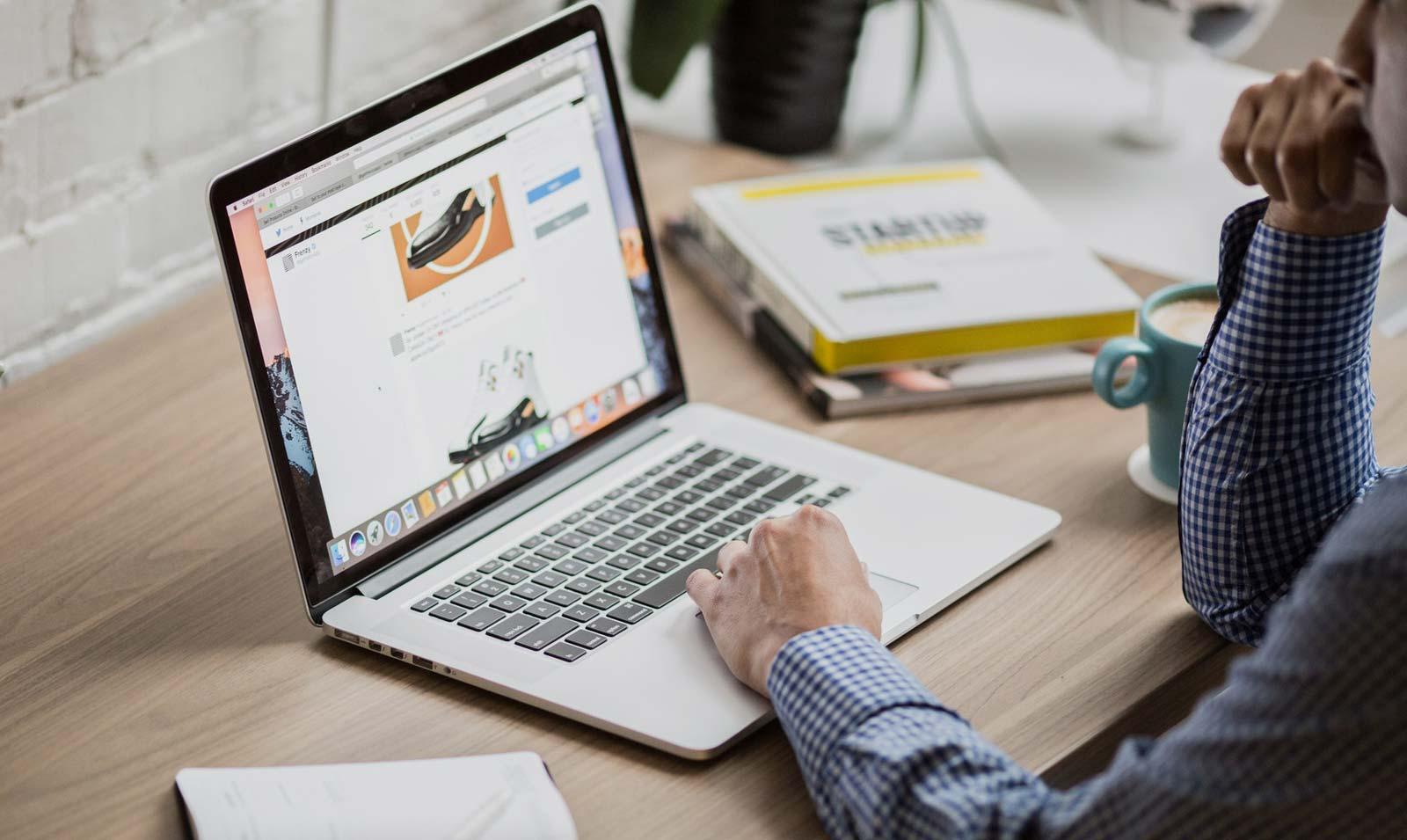 Usuário em um site
