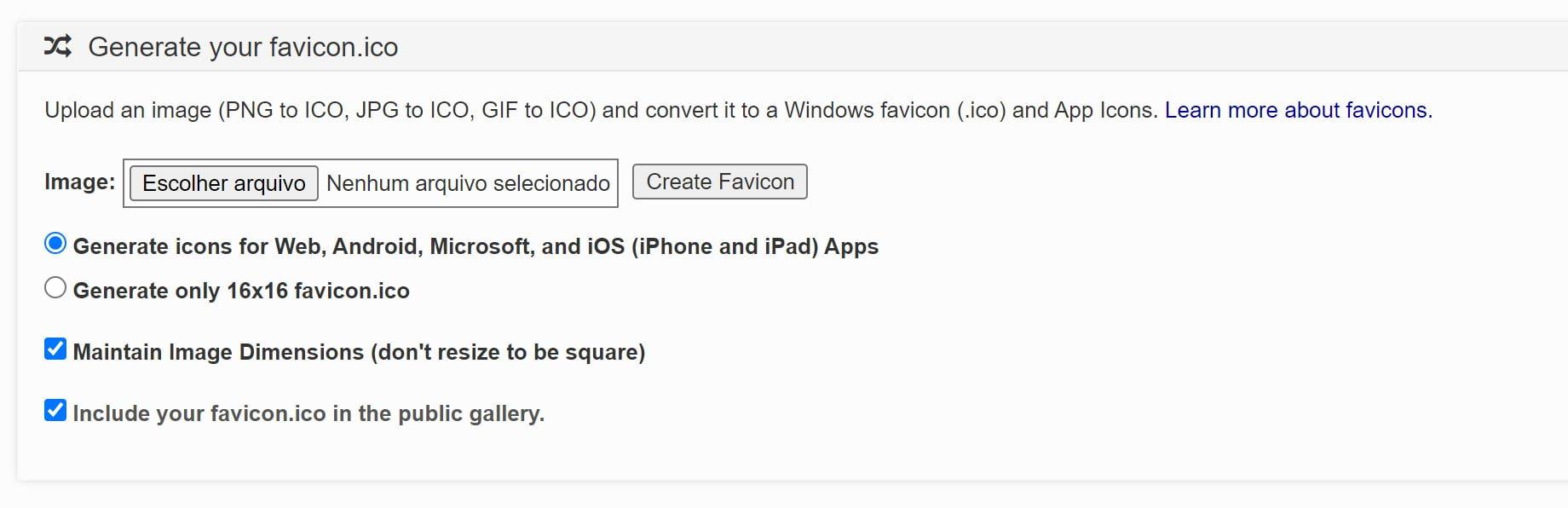Print icon generator