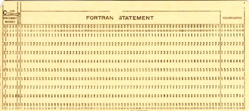 História do computador cartão perfurado