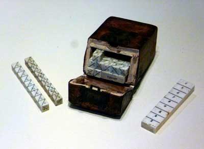 História do computador Ossos de Napier