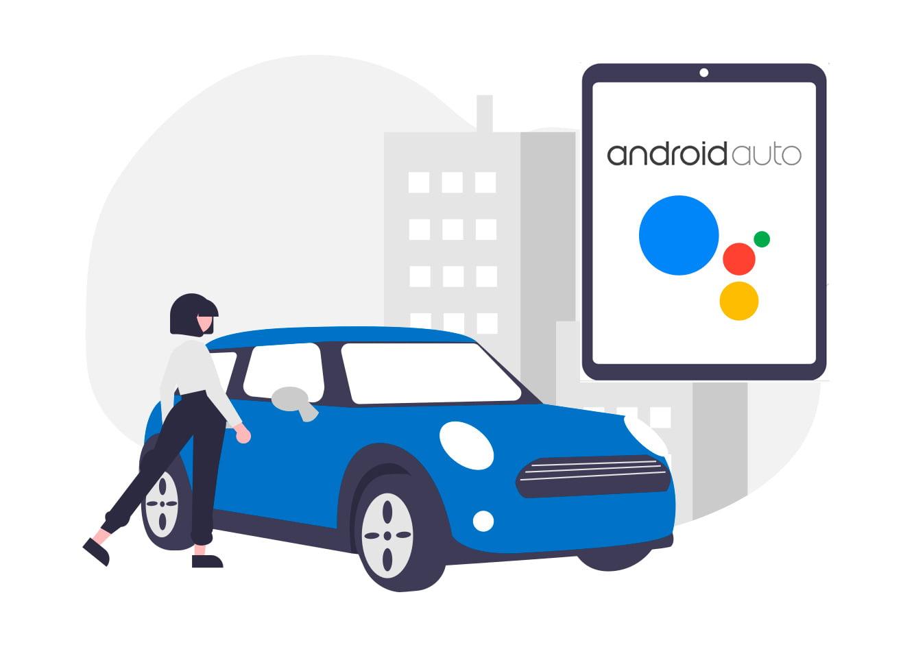 Ilustração android auto