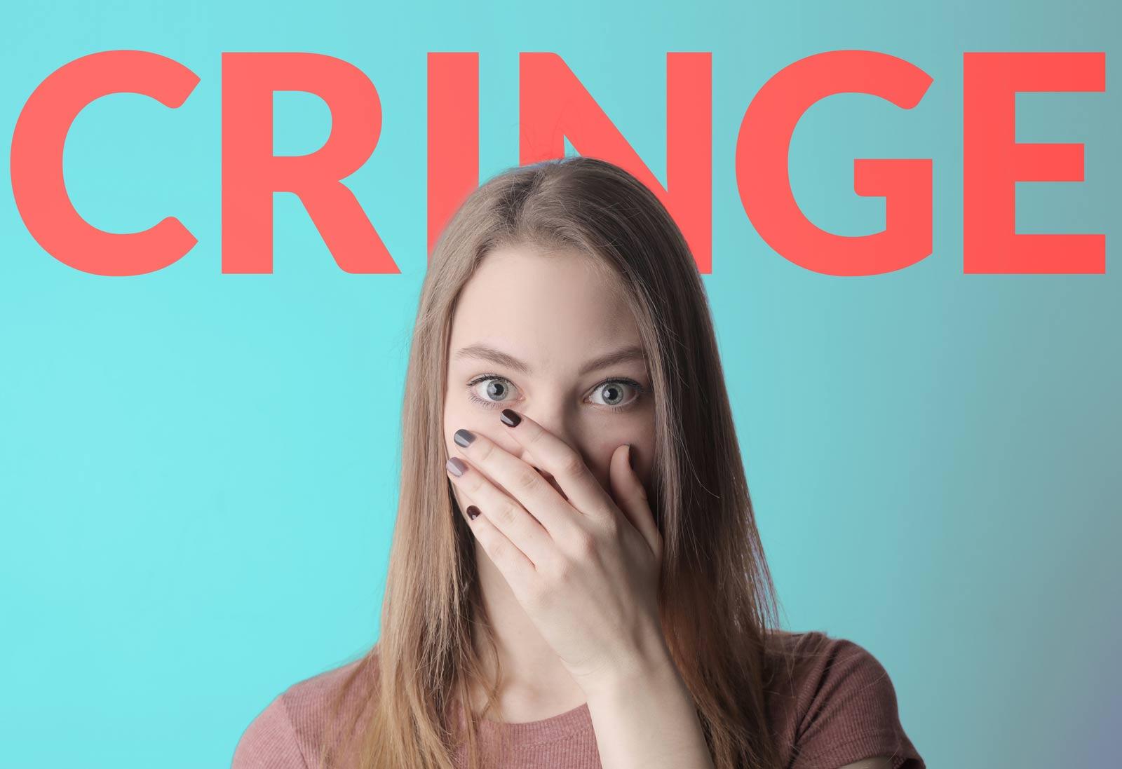 Qual o significado de cringe
