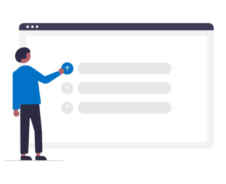 pessoa configurando site