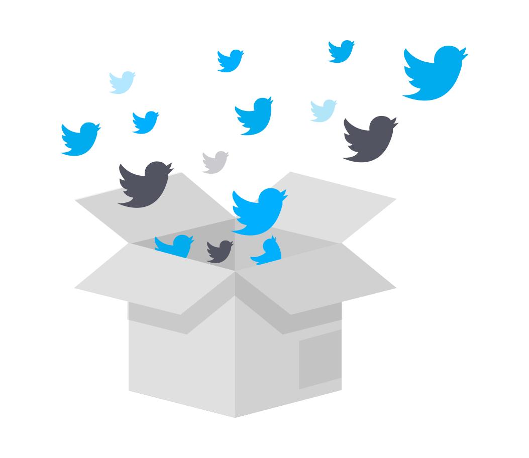 ilustração twitter